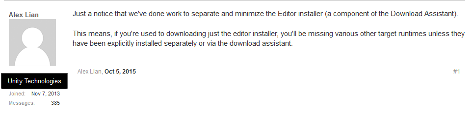 EditorInstallerLimitations