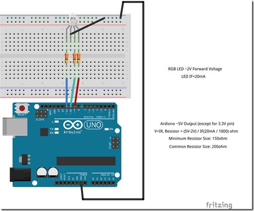 Arduino-RGB LED Common Cathode